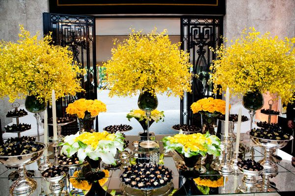 decoracao casamento lais aguiar amarelo