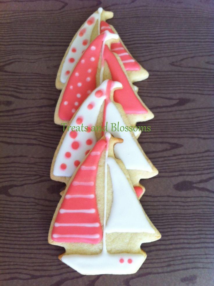Pink nautical cookies