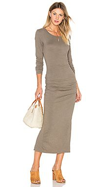 Shop for James Perse Skinny Split Dress in Ammo at REVOLVE. Free 2-3
