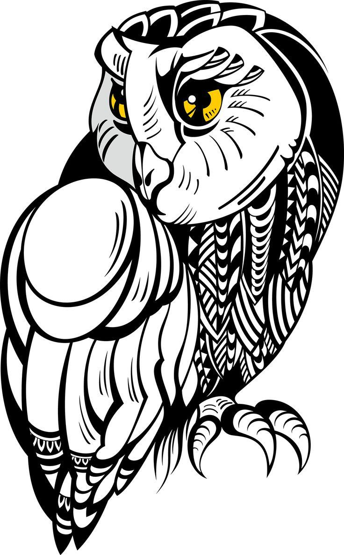 Download Owl Tattoo Drawing Illustration Stock Free HQ ...