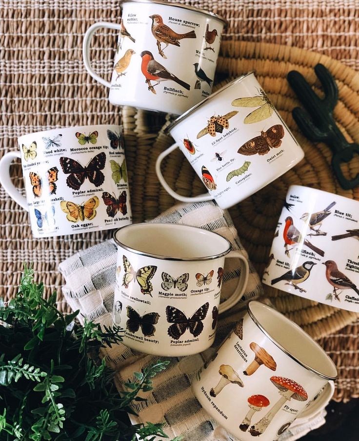 Enamel or Ceramic Ecology mugs from Freckled Hen Farmhouse