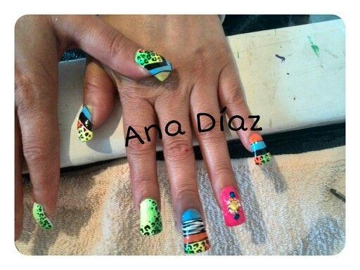 Colorfull!!! animal print!!! nails
