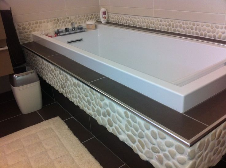 Baignoire caisson durox galets salle de bain for Caisson de salle de bain