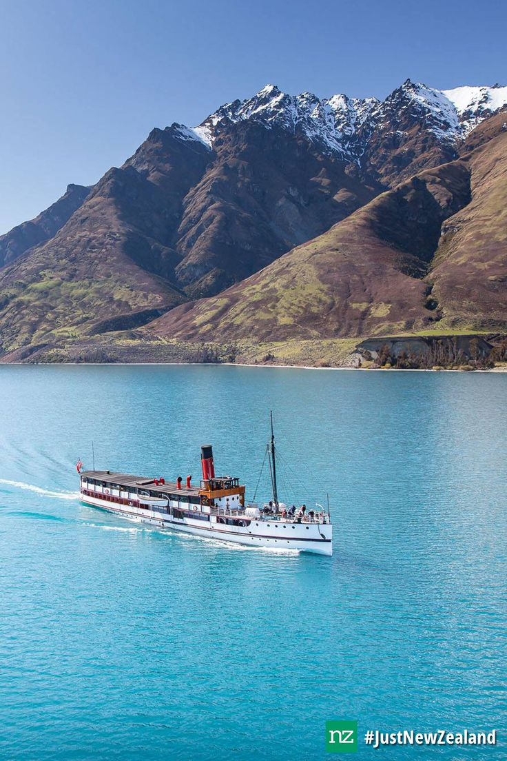 Spring time cruise on the TSS Earnslaw #nz #tssearnslaw #mustdo #queenstown #JustNewZealand
