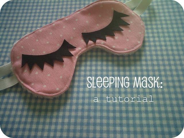 Sleeping mask: a tutorial.  Antifaz de dormir