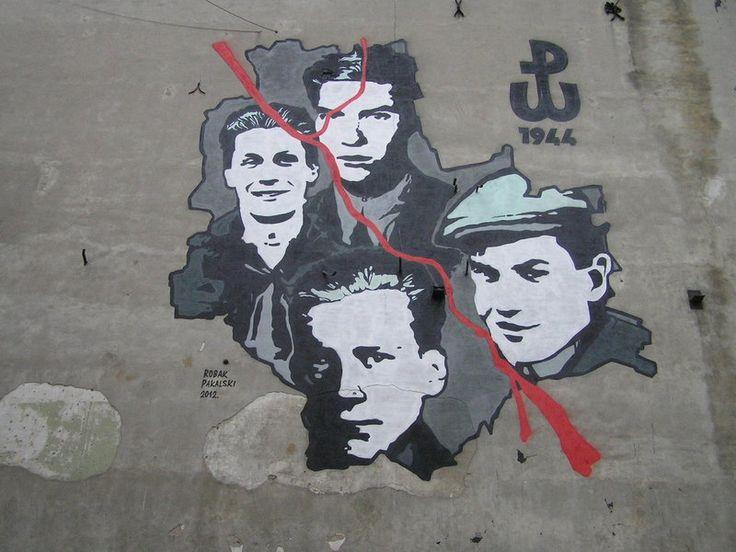 Okrzei 5 - Mural Powstanie Warszawskie 1944 r.