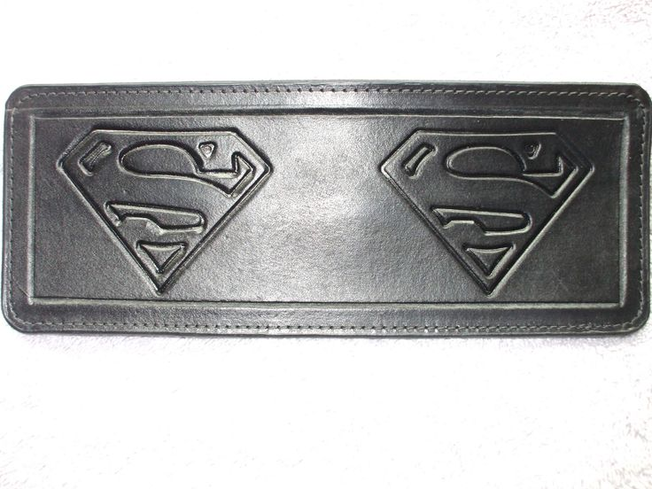 black superman wallet / billfold  (113) ships same day as ordered by Proleathercarver on Etsy https://www.etsy.com/listing/537039120/black-superman-wallet-billfold-113-ships