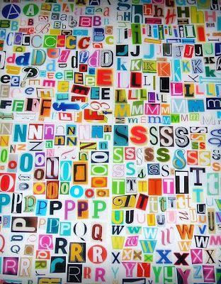 Chalk Talk: A Kindergarten Blog: Printable Magazine Letters: Literacy Centers, Alphabet Poster, Messy Magazines, Chalk Talk, Literacy Station, Kindergarten Blog