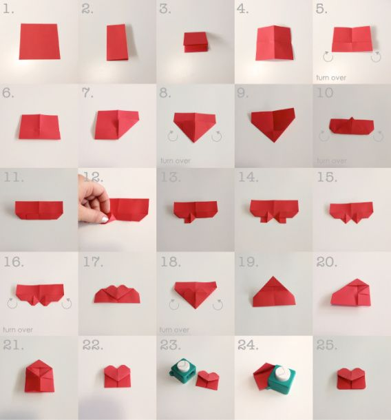 A guide on how to make origami heart bookmarks. Just to give you a hint.. It works A LOT better if you use Post-It notes! :)