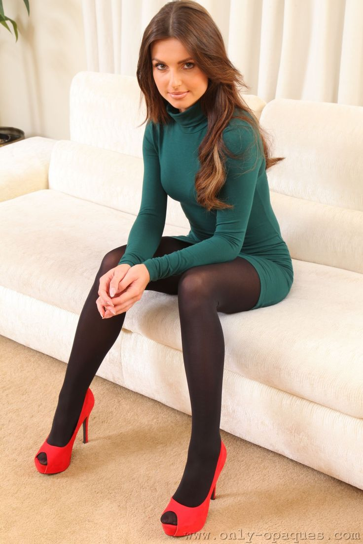 Red and green pantyhose