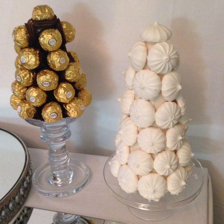 Ferrero Roche and meringue tower