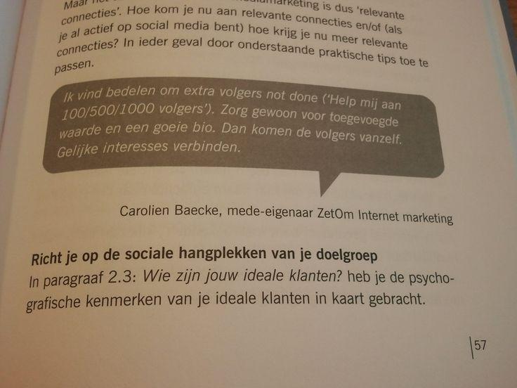 Quote in Social Media Marketing voor ZZP'ers  - Marlies van der Meer