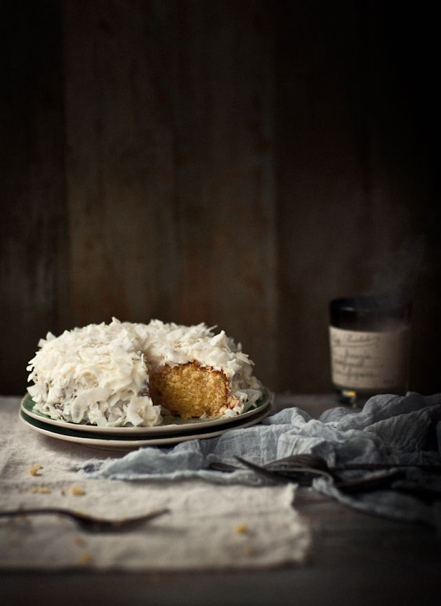gluten-free coconut & lemon tea cake  -  what katie ate
