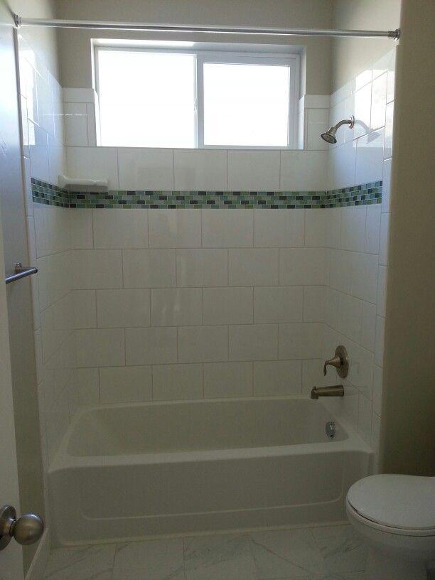Tiled Bathtub Shower Combo Bathroom Pinterest Larger Showers And Bathtubs