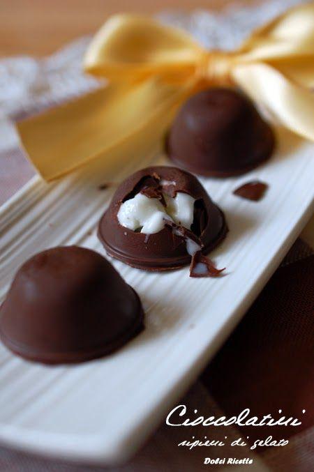 #cioccolatini ripieni di #gelato - Ice cream chocolates