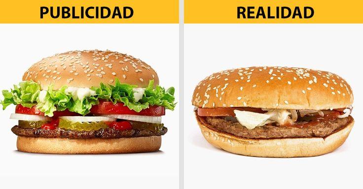 ¿Cuántas veces no hemos sido víctimas de la publicidad engañosa? Te presentamos esta galería de expectativa/realidad sobre la publicidad de la comida rápida