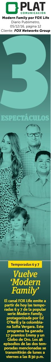 FOX Networks Group: Modern Family por FOX Life en el diario Publimetro de Perú (05/12/16)