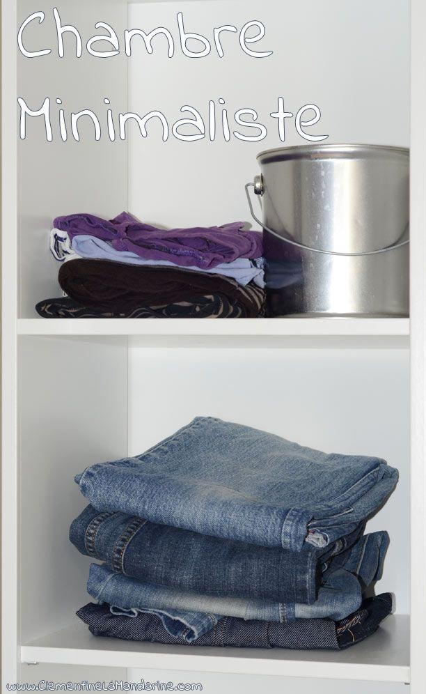 Chambre et garde robe minimaliste