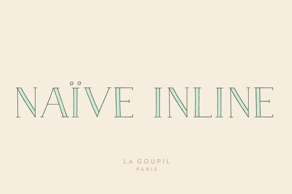 Check out Naive Inline Font Pack by La Goupil Paris on Creative Market