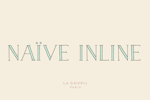 Naive Inline Font Pack by La Goupil Paris on Creative Market