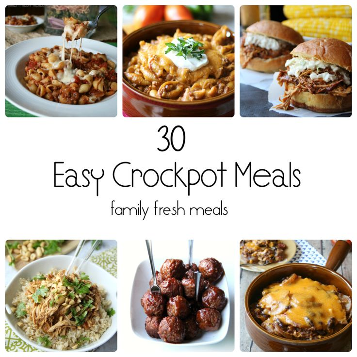 30 Easy Crockpot Recipes #slowcooker #prepday #freezerfood