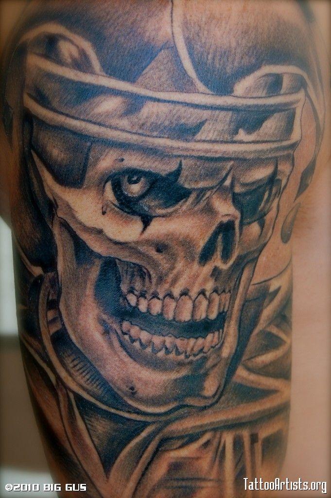 Clown Girl Tattoo Meaning: Gangster Clown Tattoo