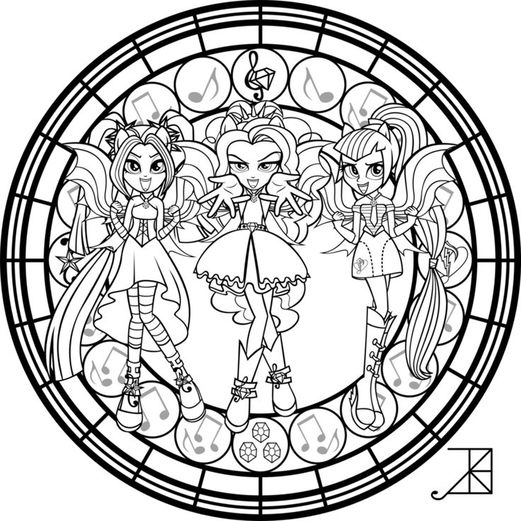 My Little Pony Dazzlings Coloring Pages. SG  Dazzlings coloring Page by Akili Amethyst Find this Pin and more on My Little Pony 41 best Awesomeness images Pinterest Coloring