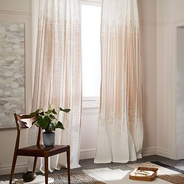 Echo Print Curtains (Set of 2) - Gold Dust #westelm