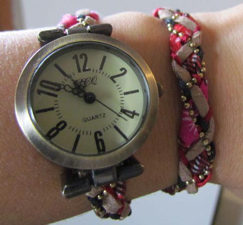 Tutoriel Montre cadran style vintage double bracelet