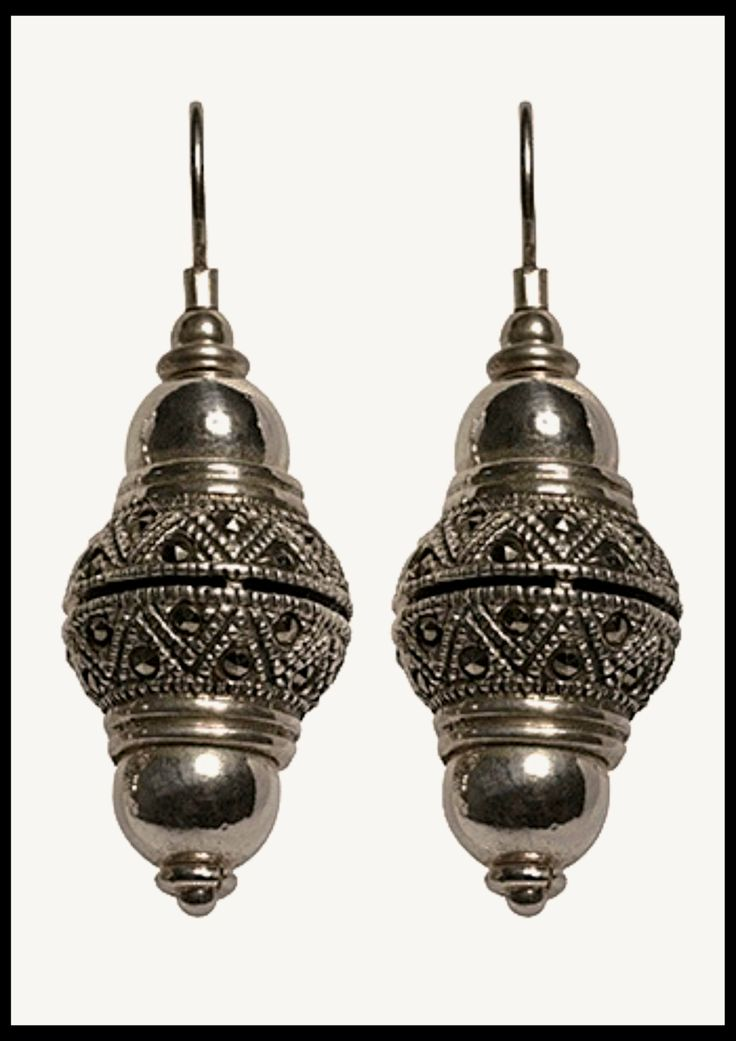 handmade sterling silver and marcasite earrings cellini