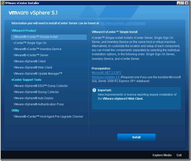 VMware vCenter Installer