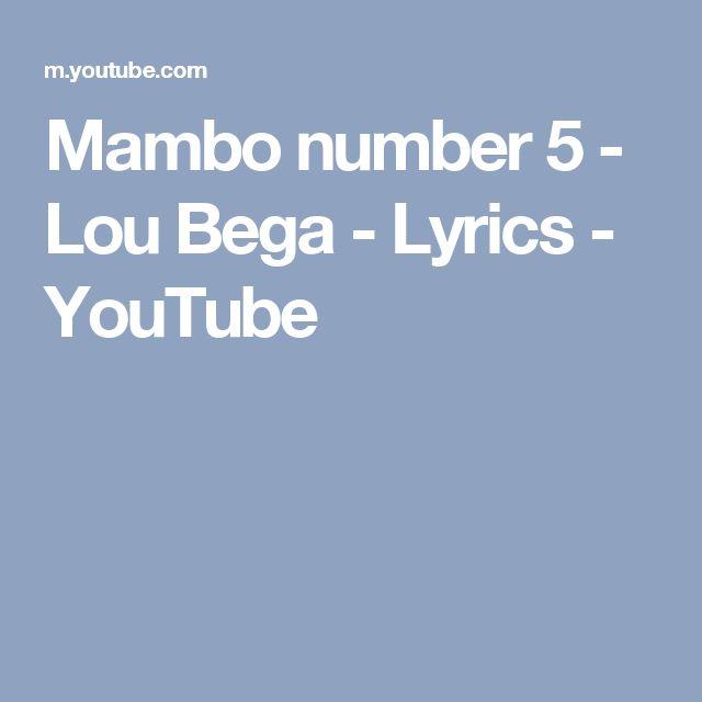 Mambo number 5 - Lou Bega - Lyrics - YouTube