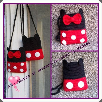 Posetuta crosetata Minnie si Mickey Mouse