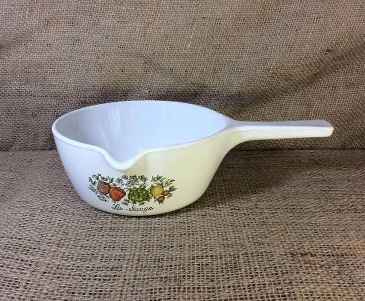 "Vintage Corning Ware, Spice of Life Corning Ware pattern, sauce pan 2 1/2"" cup, Corning Ware P-89-B, vintage cook ware, Made in the USA by NothingsNewHere on Etsy"