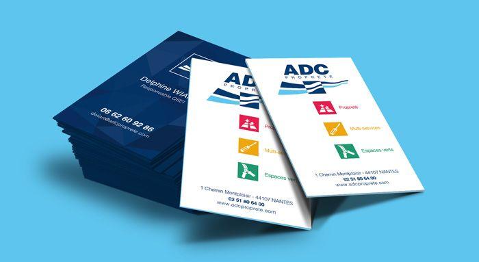 Création de carte de visite - Entreprise ADC Propreté