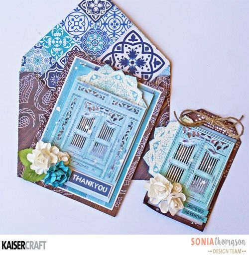 'Card and Tag Set' by Sonia Thomason Design Team member for Kaisercraft Official Blog featuring their Delicious Decorative Dies and 'Ubud Dreams' collection (January 2017) Saved from kaisercraft.com.au/blog - Wendy Schultz ~ Cards 1.
