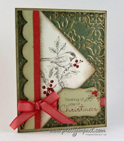 Christmas bird and berries