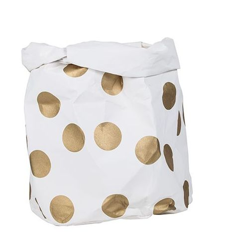 WASHPAPER STORAGE BAG XL GOLD - Too Cool For School