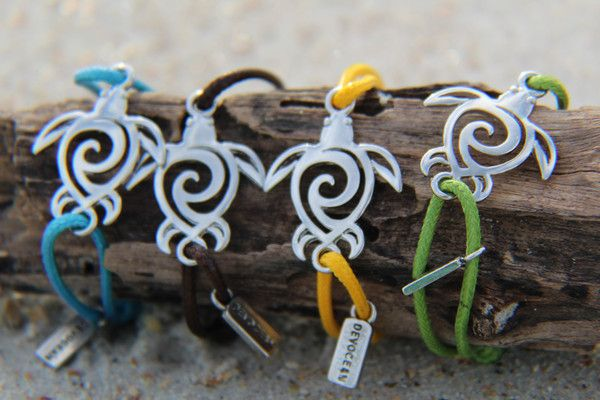 """- 100% waterproof - Small """"Devocean"""" tag included on every Bracelet - adjustable from 2-5 inches in diameter *20% of net profit from this bracelet will be donated to Sea Turtle Rescue and Ocean Conser"""