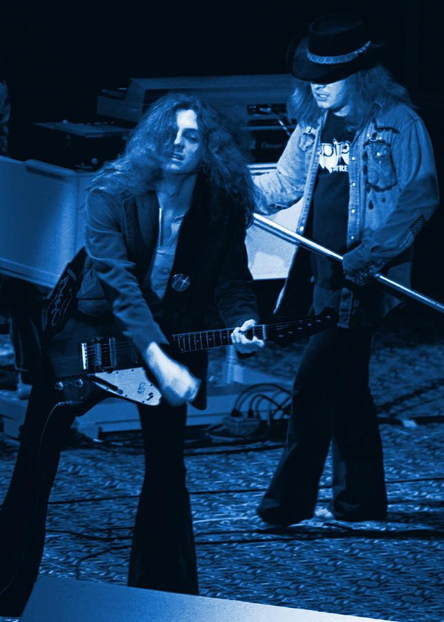 Allen Collins And Ronnie Van Zant Same Old Winterland Blues Photograph