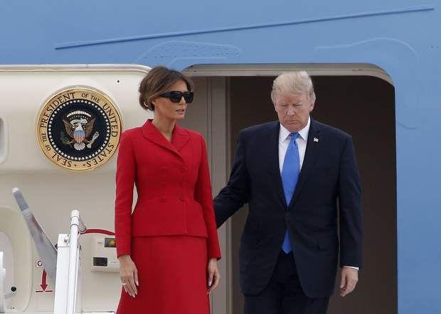 Donald et Melania Trump sont arrivés ce matin à Paris