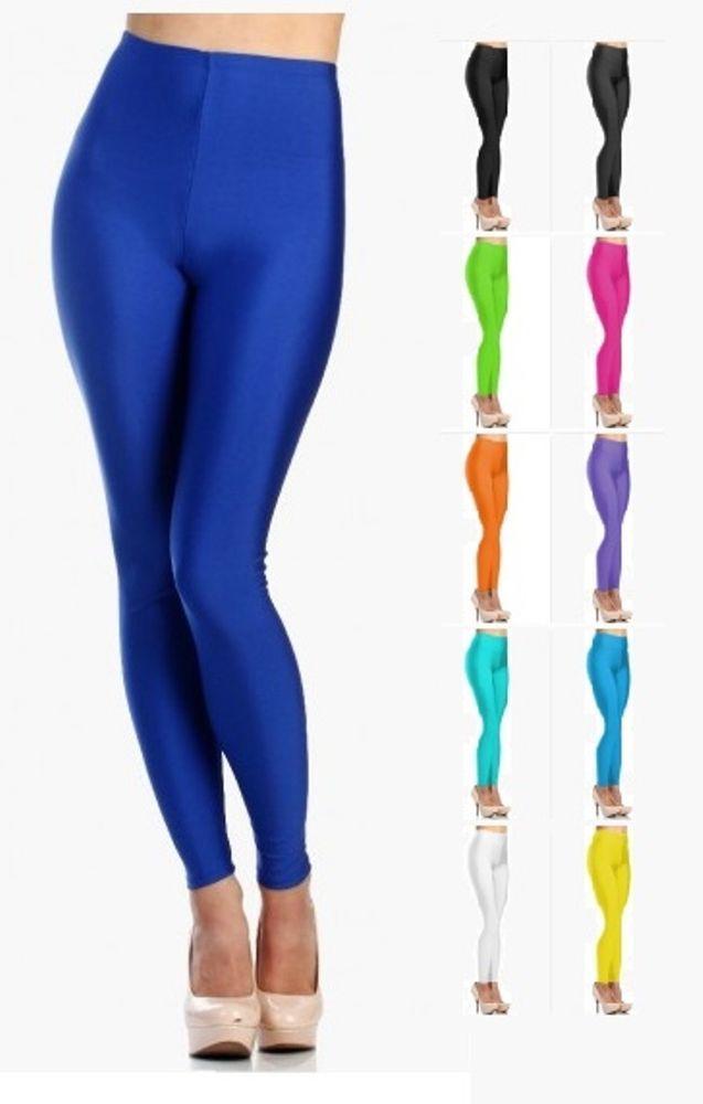 fd506a551eef1e Women's Shiny Nylon High Waist Stretchy Tricot Skinny Dance Leggings - 045  #Victoria #Doesnotapply