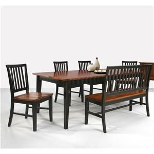 Shop For Intercon Lattice Back Bench And Other Dining Room Benches At Woodchucks Fine Furniture Decor In Jacksonville Florida