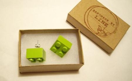 Øredobber med LEGO