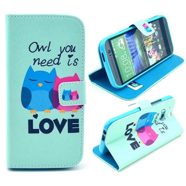 Owl You Need is Love booktype hoesje voor HTC One M8