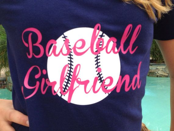 Hey, I found this really awesome Etsy listing at https://www.etsy.com/listing/188203967/baseball-girlfriend-t-shirt-to-make-your