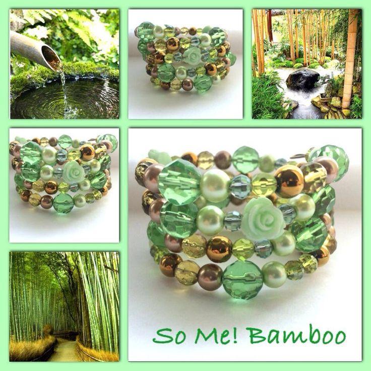 Bamboo! Moderne, mooie zelfgemaakte armbanden, glas parels, glas kralen , Memory wire, http://some-accessoires.nl