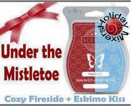 Scentsy Cozy Fireside + Eskimo Kiss = Under the Mistletoe 2015