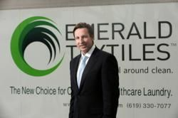 How Tom Gildred is changing the healthcare laundry industry in 2015! | CEO and founder of Emerald Textiles, Tom Gildred, speaks on leveraging new technologies in 2015 to change an old fashion industry for good.