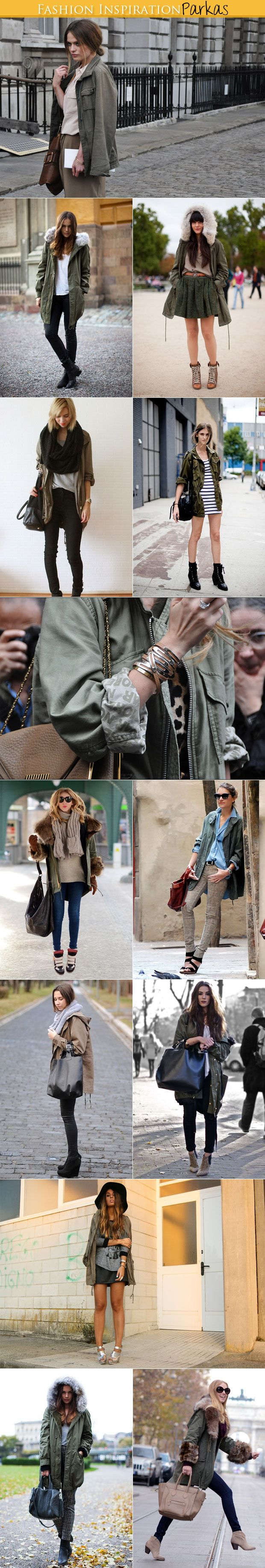 Great inspiration shots of how to style an anorak for spring and fall.